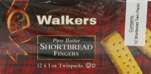 Walkers Shortbread Fingers, (12 x 1 oz Twin packs), Pack of 2