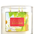LOVE & SUNSHINE 3-Wick Candle 14.5 oz / 411 g
