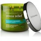 Bath & Body Works, Aromatherapy Stress Relief 3-Wick Candle, Eucalyptus Spearmin