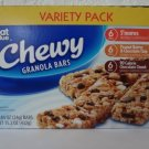 Great Value Chewy Granola Bars Variety Pack, 18- 0.84 oz (24g)