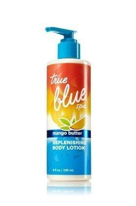 Bath & Body Works True Blue Spa Mango Butter Replenishing Body Lotion 8 oz