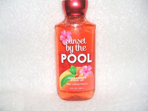 Bath & Body Works Sunset By the Pool Shea & Vitamine Shower Gel 10 Fl Oz.