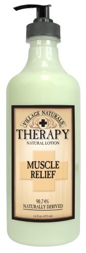 Village Naturals Therapy Muscle Relief Natural Lotion 16 fl oz Body Care / Beaut
