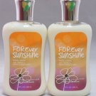 Bath and Body Works Signature Collection (2) Forever Sunshine Body Lotion 8 oz