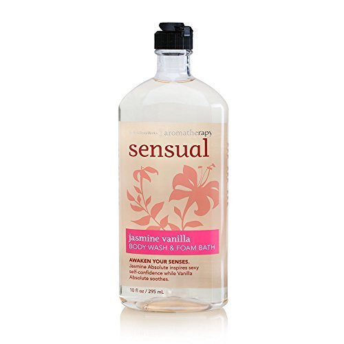 Bath Body Works Aromatherapy Sensual Jasmine Vanilla 10 oz Body Wash Foam Bath