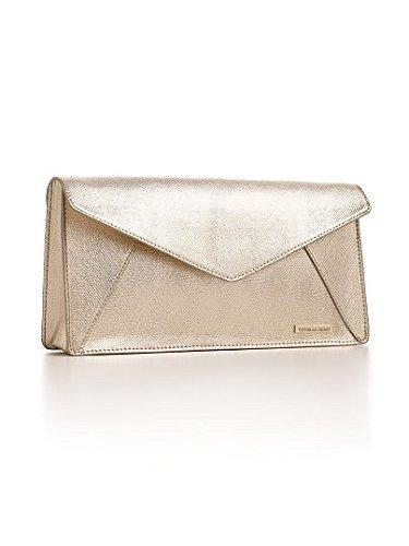 Victoria's Secret Gold Metallic Clutch Purse