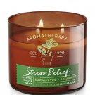 Bath & Body Works STRESS RELIEF - EUCALYPTUS & SPEARMINT 3-Wick Candle