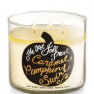 Bath & Body Works CARAMEL PUMPKIN SWIRL 3-Wick Candle