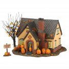 Department 56 Snow Village Halloween Pumpkin House Lit Building, 6.69 inches