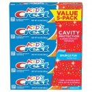 Kid's Crest Toothpaste, Sparkle Fun 4.6 oz., 5 pk