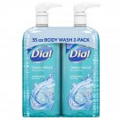 Dial Antibacterial Body Wash, Spring Water 35 fl. oz., 2 pk