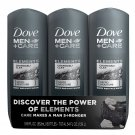 Dove Men+Care Body Wash, Charcoal+Clay 18 fl. oz., 3 pk