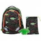 Crckt Youth Backpack, 3 Piece Set with Lunch Kit and Matching Ice Pack