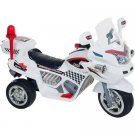 Lil' Rider Police Connection Sport Bike 6-Volt Battery-Powered Ride-On, White