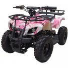 MotoTec 24V Mini Quad V4, Camo Pink