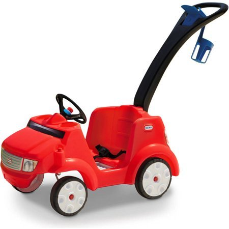 Little Tikes 2-in-1 Quiet Drive Buggy, with removable foot-board, Red