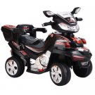 Costway 4 Wheel Kids Ride On Motorcycle 6V Battery Powered R/C Electric Toy Power Bicyle Black