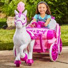 Disney Princess Royal Horse and Carriage Girls 6V Ride-On Toy