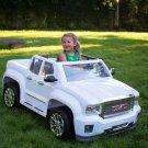 Rollplay 12 Volt GMC Sierra Denali Battery Powered Ride-On Vehicle - White
