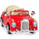 Best Choice Products Ride on Car RC Classic Car Remote Control Electric Battery Power - Red