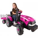 Case IH Magnum Tractor and Trailer Girls' 12-Volt Battery-Powered Ride-On, Pink