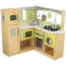 New Limited Edition Kidkraft Wooden Lime Green Corner Kitchen