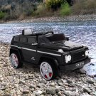 Jaxpety Black 12V Kids Ride On Truck Battery Powered Toy Vehicle Remote Control w/ MP3 LED Lights
