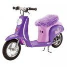 Razor Euro Style Vintage Inspired Seated Electric Scooter Pocket Mod, Purple