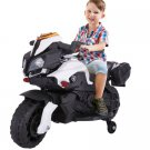 Jaxpety 6V Kids Ride On Motorcycle Battery Bicycle Electric Toy New White