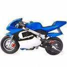 XtremepowerUS Gas Pocket Bike Motorcycle 40cc 4-stroke Engine, Blue