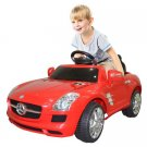 Costway MERCEDES BENZ SLS R/C MP3 KIDS RIDE ON CAR ELECTRIC BATTERY TOY Red/Black
