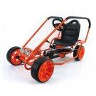 Hauck Thunder II Ride-On Pedal Go-Kart, Orange