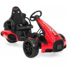 Best Choice Products 12V Kids Go-Kart Racer Ride-On Car - Red