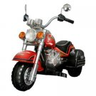 Merske Harley Chopper Style Motorcycle Battery Powered Riding Toy - Red