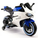 2018 Racing Style Ride On Car Motorcycle Toy for Kids 12V Powered Blue