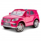 Pink Mercedes Benz ML63 12-Volt Ride-On Toy Car By Kid Trax
