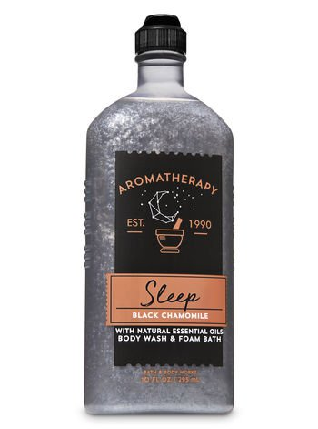 Bath & Body Works Aromatherapy Black Chamomile Body Wash & Foam Bath 10 oz / 296 ml