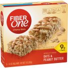 Fiber One Chewy Bars, Oats and Peanut Butter, 5-Count of 8 Boxes (Pack of 40)