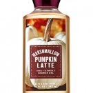 Bath & Body Works Marshmallow Pumpkin Latte Shower Gel 10 fl oz / 295 mL (2 Pack)