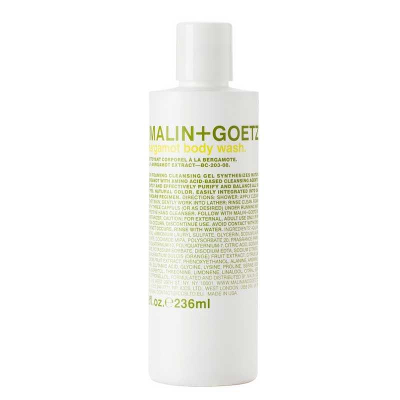 C.O. Bigelow Malin & Goetz Bergamot Body Cleanser - 8 oz (2 Pack)