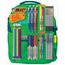 BIC Backpack Supplies Pack Includes Pens, Pencils, Markers, and Highlighters, 50 Count