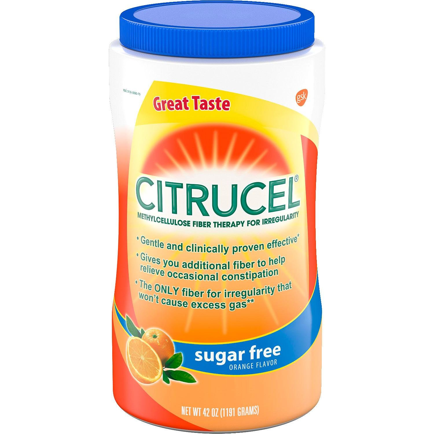 Citrucel Powder Sugar-Free Orange-Flavor Fiber (42 oz.)