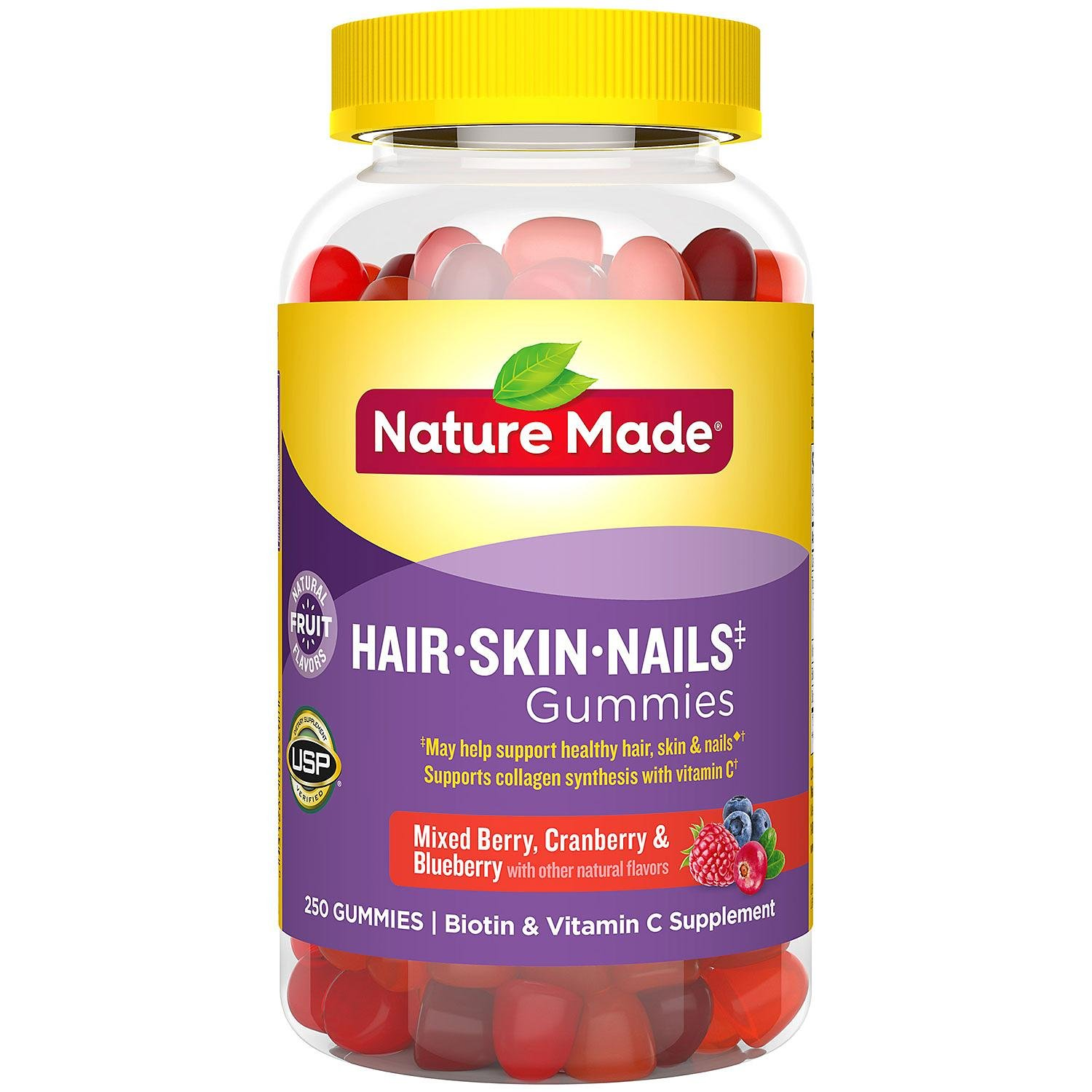 Nature Made Hair, Skin & Nails 2,500 mcg Gummies (250 ct.)