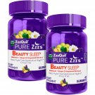 Vicks ZzzQuil Pure Zzzs Beauty Sleep Melatonin Ginger Grapeseed Extract Gummie (42 ct., 2 pk.)