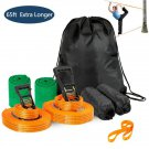 Arm Trainer Line Warrior Training Equipment Slackline Kit for Kids, Extra Longer 65 Feet
