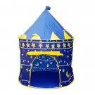 Portable Folding Blue Play Tent Children Kids Castle Cubby Play House