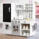 White Kids Kitchen Playset Cooking Toys