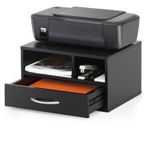 Two-Tier Wooden Printer/Fax Stands Desktop
