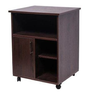Printer Stand with Door Storage Office Cabinet