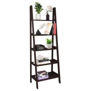 Ladder Shelf, 5-Tier Multifunctional Modern Wood